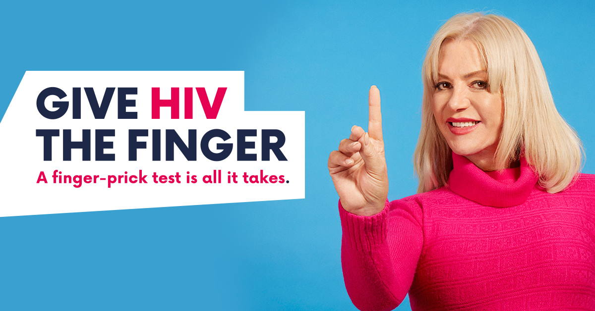 Give HIV the finger, Testing Week 2017