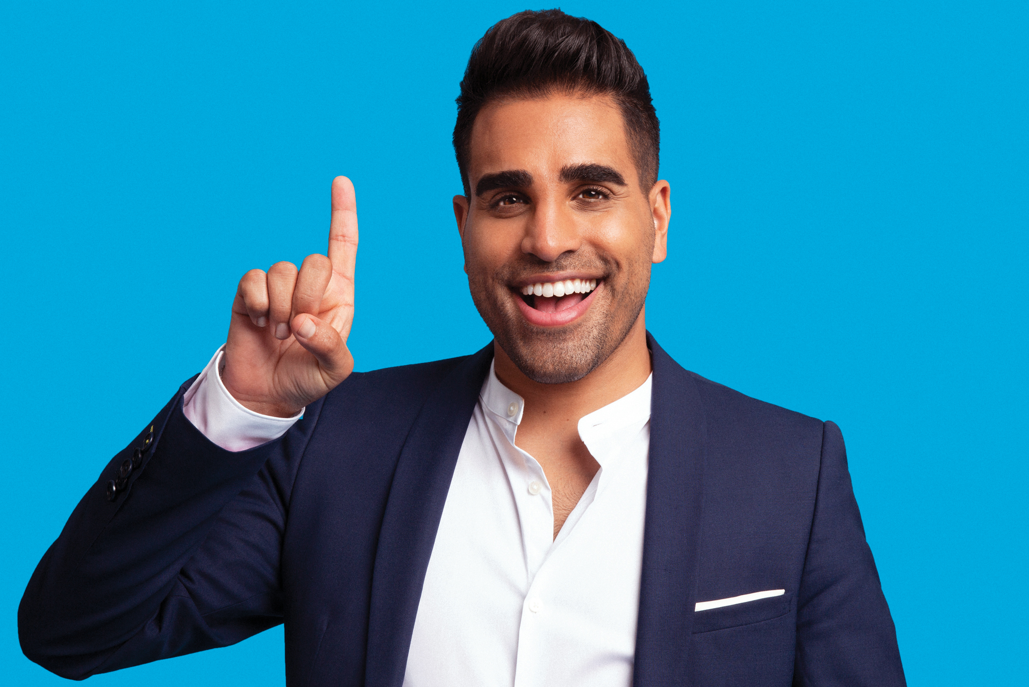 Dr Ranj holding his finger up